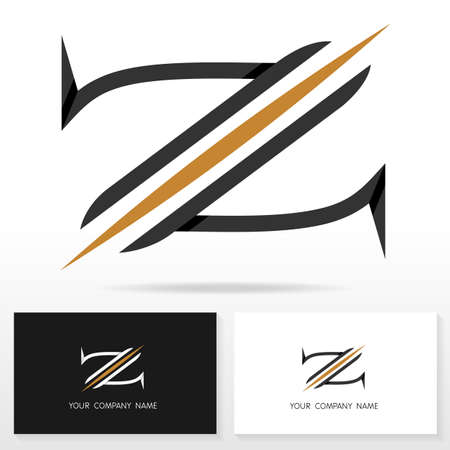 business letter: Letter Z logo icon design vector sign - Stock vector. Business card templates.