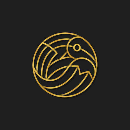 pajaros: Aves logotipo de la plantilla - vector signo P�jaro abstracto. Vector de aves logotipo. Muestra abstracta de un p�jaro en el estilo de l�nea. Vector de aves logotipo. Muestra abstracta de un p�jaro en estilo de esquema.