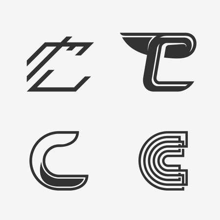 letter c: The set of letter C sign Illustration