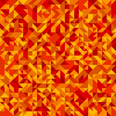 background orange: Abstract geometric polygonal background. Orange futuristic vector seamless pattern. Illustration