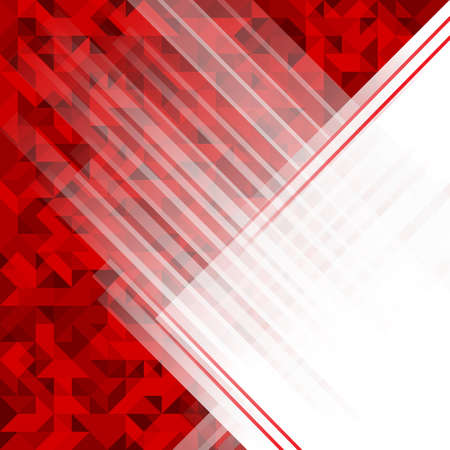concept design: Abstract geometric polygonal background. Red futuristic vector background with copy space.