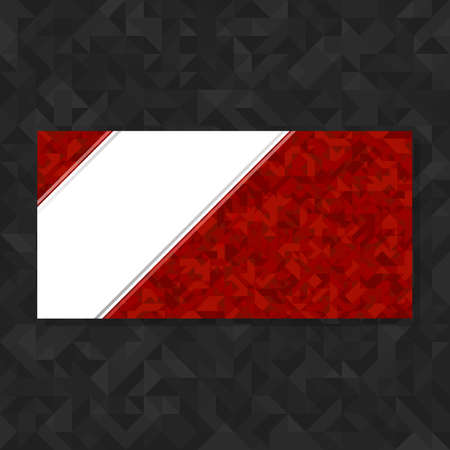 abstract background vector: Abstract geometric polygonal background. Red futuristic vector background with copy space. Template for flyers, brochures, booklets. Illustration