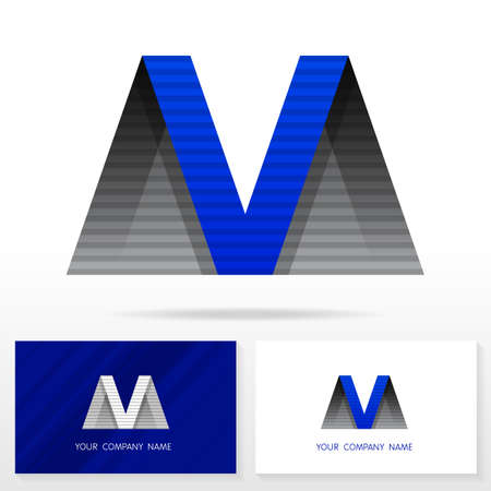 business marketing: Letter M logo design. Business vector sign. Business card templates.