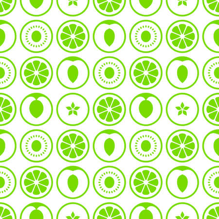 one color: Fruit seamless vector pattern. Simply fruit on a white background. One color