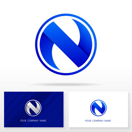 Letter N logo design. Business vector sign. Business card templates.