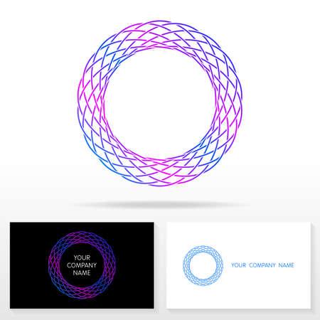 logo marketing: Letter O logo design - vector sign. Business card templates.