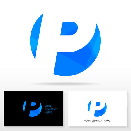 business sign: Letter P logo design - vector sign. Business card templates. Illustration