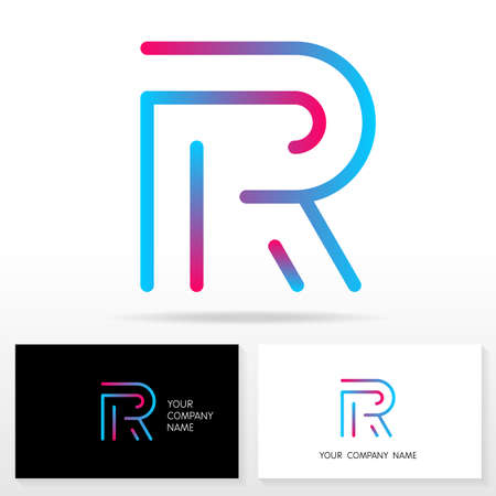 r: Letter R logo design vector sign - Stock vector. Business card templates. Illustration
