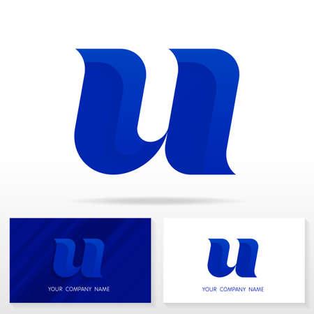cg: Letter U logo design vector sign - Stock vector. Business card templates. Illustration