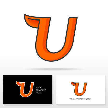 business sign: Letter U logo design - vector sign. Business card templates.