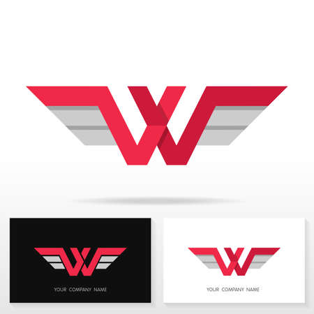 Letter W logo design. Business sign and business card templates.