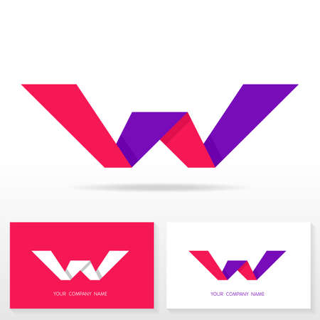 letter w: Letter W logo design - vector sign. Business card templates.
