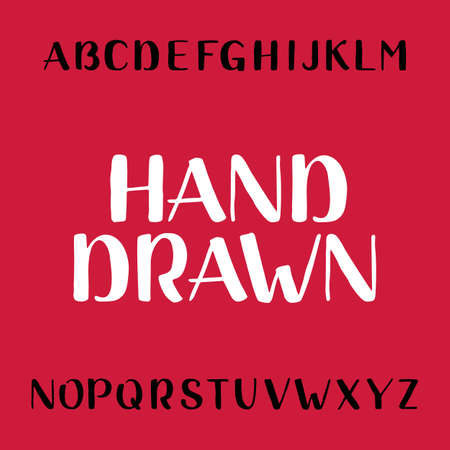 headlines: Hand drawn alphabet vector font. Brush lettering for labels, headlines, posters etc.