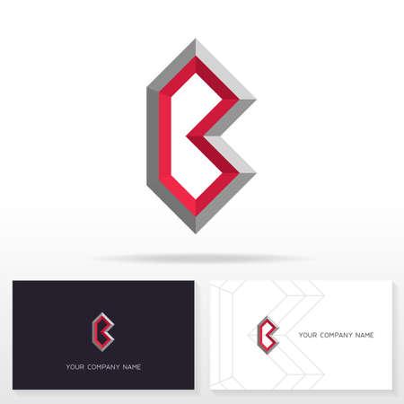 business letter: Letter B design sign. Business card templates. Illustration