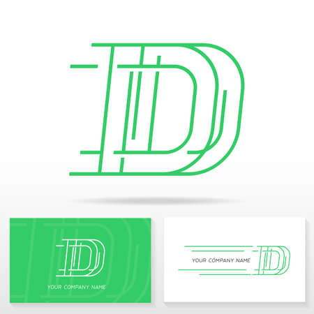 abstract template: Letter D logo icon design template. Business card templates. Vector illustration.