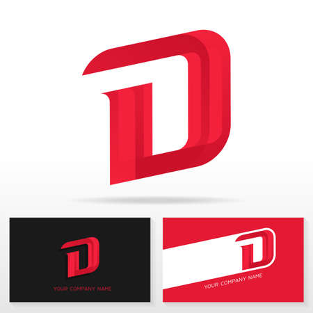 Letter D logo design - vector sign. Business card templates.