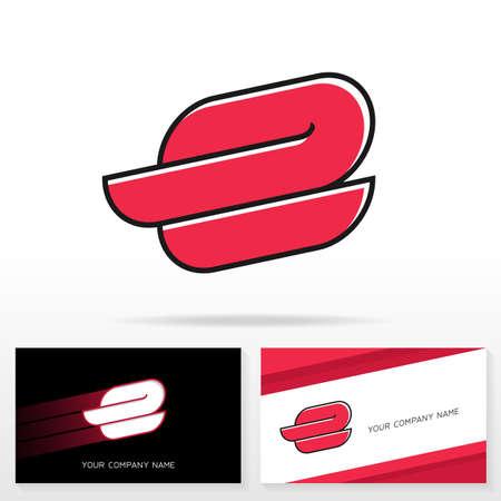 e business: Letter E logo icon design template. Business card templates. Vector illustration. Illustration