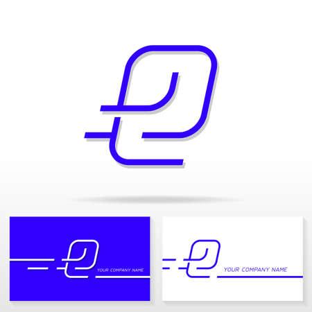 e business: Letter E logo icon design template elements. Business card templates. Illustration