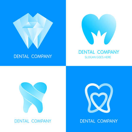implantation: Dental icon design template elements. Vector tooth care signs