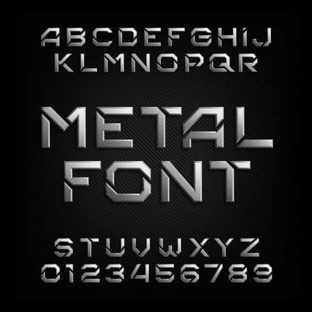 metal alphabet: Metal alphabet font.