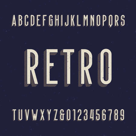 retro type: Retro alphabet font. Type letters and numbers.