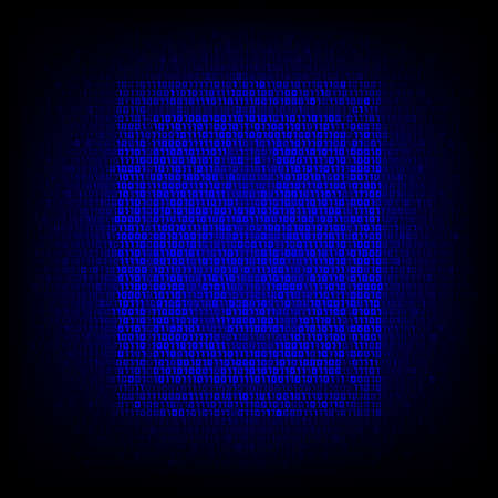 security symbol: Security concept. Binary code safe symbol on the digital high tech style background.