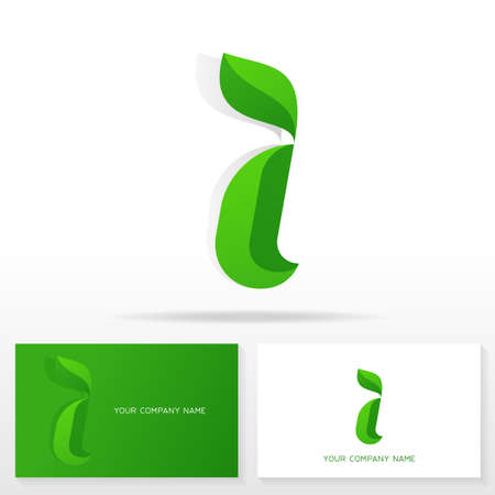 letter i: Letter I icon design vector signs. Business cards templates.