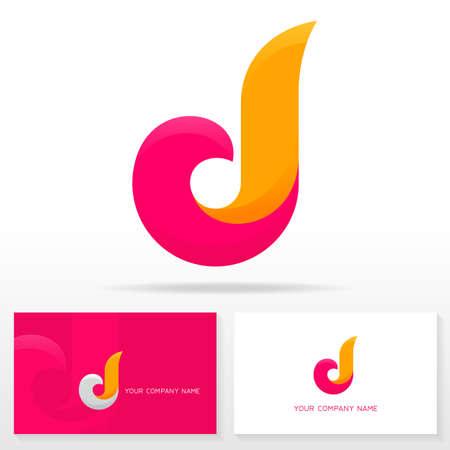 文字 D のロゴデザイン - ベクトル記号。ビジネス カードのテンプレート。