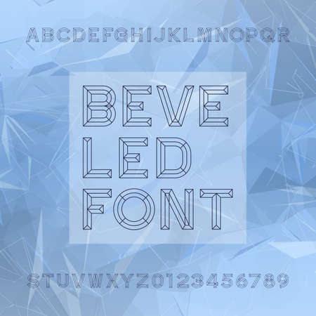 chiseled: Chisel Alphabet Vector Font. Type letters and numbers. Chiseled block typeface for your design.