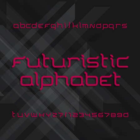 Futuristic alphabet font.