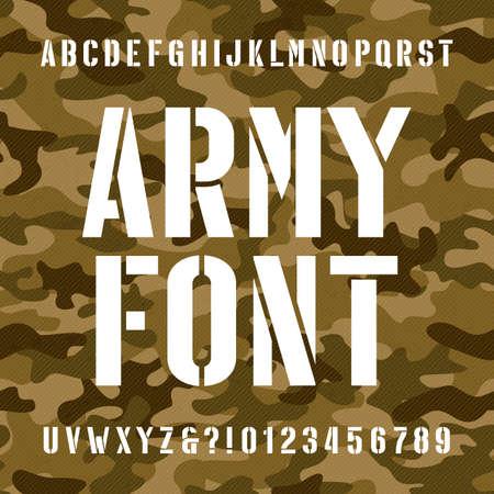육군 스텐실 알파벳 글꼴입니다.