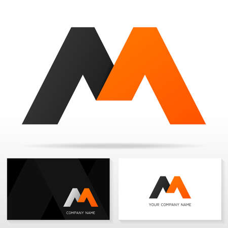 Letter M logo icon design template. Business card templates. Vector illustration.