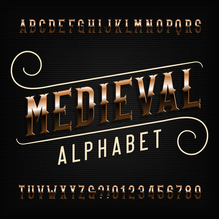 2,405 Medieval Fonts Stock Vector Illustration And Royalty