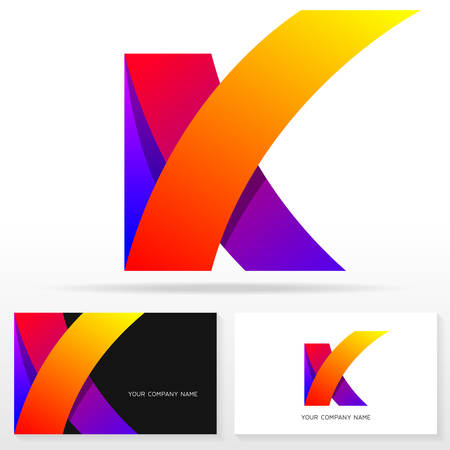 Letter K icon design template. Business card templates. Vector illustration.