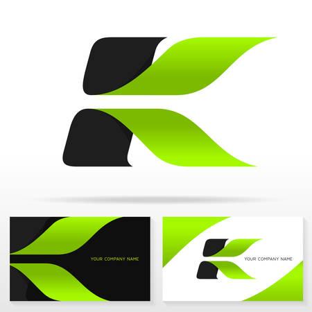 Letter K logo design vector sign - Stock vector emblem. Business card templates.