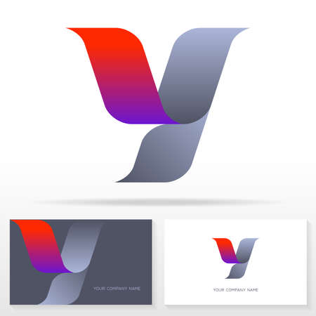 Letter Y logo design vector sign - Stock vector emblem. Business card templates.