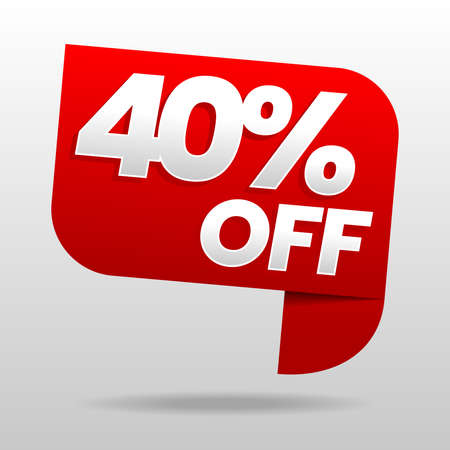 Sale 40% off. Discount or special offer. Advertising campaign. Stock vector illustration. Vector Illustratie