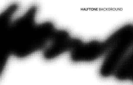 Abstract vector halftone background. Black and white monochrome dotted texture. Stock vector illustration.