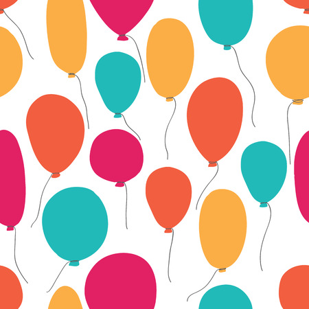 rewarding: Vector party baloons pattern. Great for Birthday wedding anniversary jubilee rewarding and winning design. Seamless backgrounds.