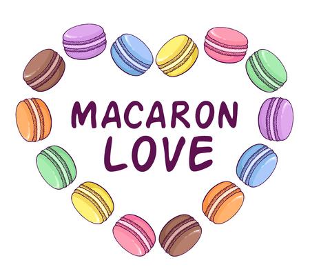 macaron: Vektor-Makronen Darstellung in Herzform. Macaron Liebe. Gro�e Ihr Unternehmen zu f�rdern.