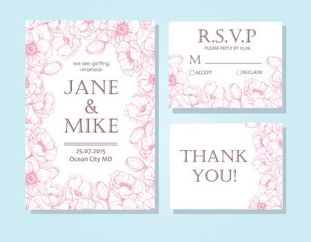 Mountain Wedding Invitation Vector Rustic Card Template Wedding
