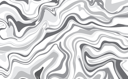 Vector ink marble style texture. Hand drawn marbling effect. Background illustration in grey pastel monochrome colors. Aqua print. Great for greeting and wedding cards, template, banner Vettoriali