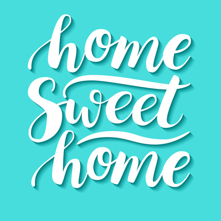 housewarming: Home Sweet Home. Vector conceptual handwritten phrase. Calligraphic quote. Vector illustration for housewarming posters, banners, cards