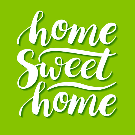 Home Sweet Home. Vector conceptual handwritten phrase. Calligraphic quote. Vector illustration for housewarming posters, banners, cards