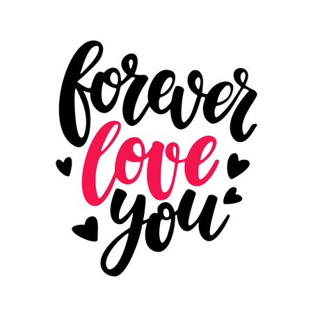 amore: Valentine s Day vector lettering. Isolated handwriting calligraphy love quotes and inscriptions.