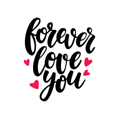 amore: Valentine s Day vector lettering . Isolated handwriting calligraphy love