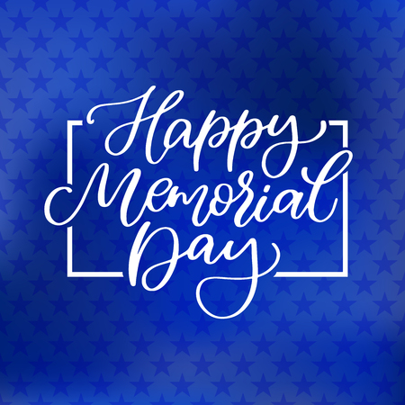 Memorial day vector hand lettering. American national holiday quote Illustration