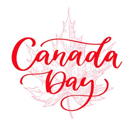 Glückliche Kanada-Tagesvektorkarte Standard-Bild - 80336007