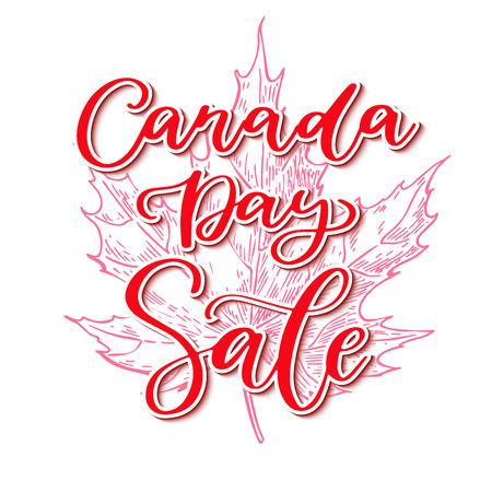 Happy Canada day vector sale card