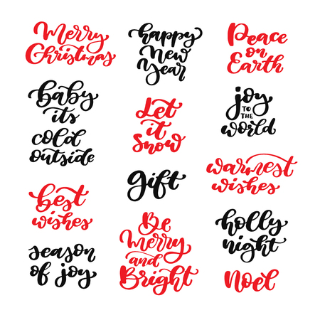 Christmas lettering set. Illustration